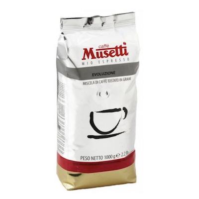 Musetti Evoluzione 100% Arabica zrnková káva 1kg
