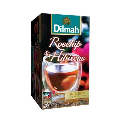Čaj Dilmah Rosehip Hibiscus 20x1,5g