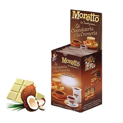 Čokoláda Moretto Biela - Kokos 12x30g