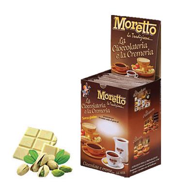 Čokoláda Moretto Biela - Pistácia 12x30g